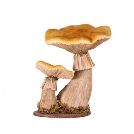 champignon jaune et gris 23x18xh20 cm