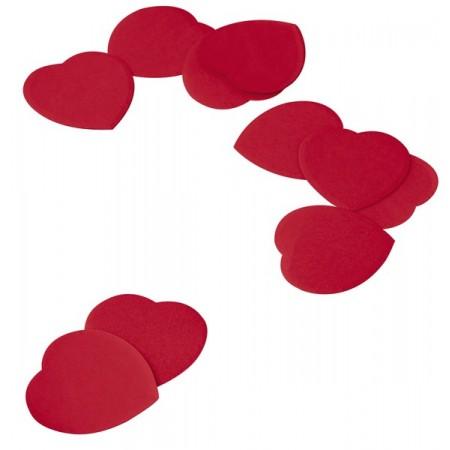 Confettis coeur rouge - diam: 5.5 cm - papier - 100 grs