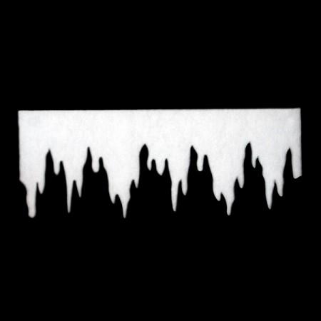 Frise stalactite - ouate - 95 x 35cm