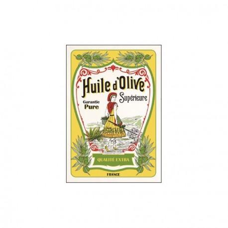 Tissu Imprimé  Huile d'olive  - Coton - 48 x 72 cm