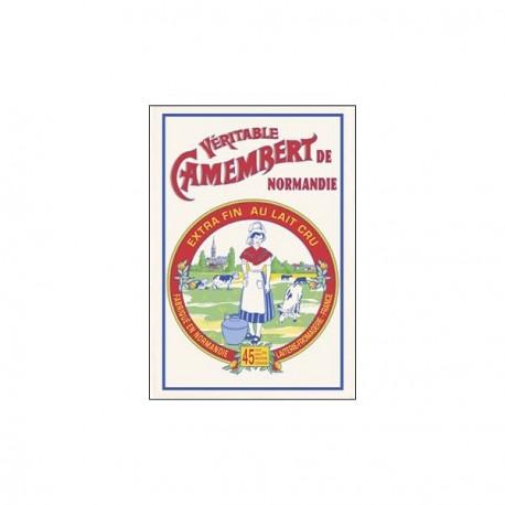 Tissu Imprimé  Camembert de Normandie - Coton - 48 x 72 cm