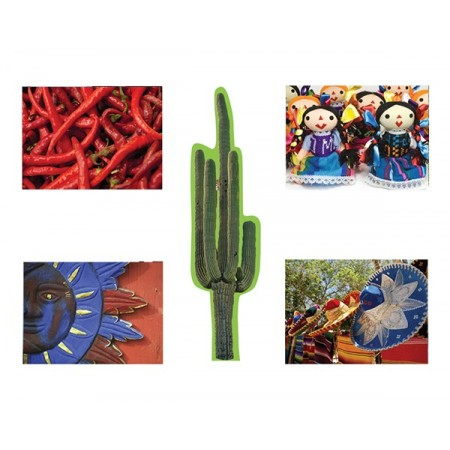 Mobiles Mexique x 5 - carton - 35 x 26 cm