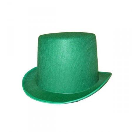 Chapeau haut de forme vert - feutre - taille adulte