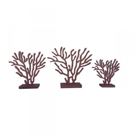 Coraux en bois - lot de 3 tailles 17cm - 23cm - 25cm