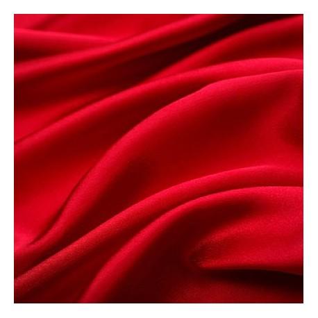 Tissu satin rouge le ml - Larg 150 cm (vendu au mètre)