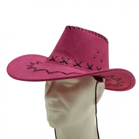 Chapeau Country rose - feutre - taille adulte