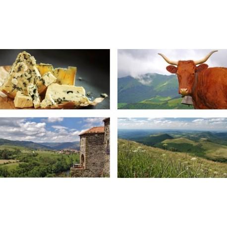 Mobiles Auvergne x 4 - carton - 27 x 49 cm
