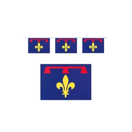 Guirlande drapeaux Provence - 10 fanions 21 x 30 cm - papier - Long.520cm