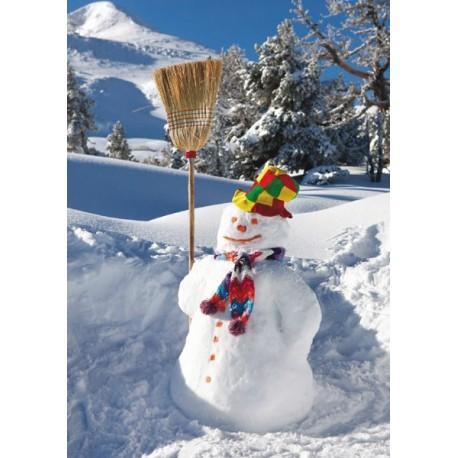 Affiche Bonhomme de neige - papier - 42 x 60 cm