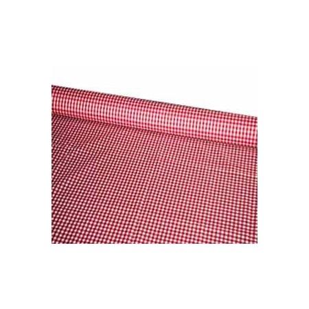 Tissu Vichy rouge- Larg. 150cm :  le ml