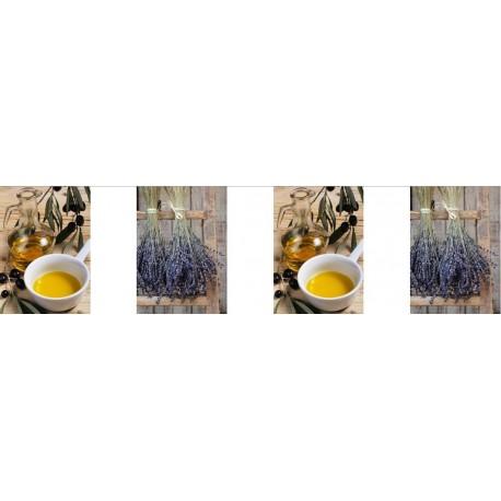 Guirlande Provence Visuels - 10 fanions de 30 x 21 cm -  papier - Long. 450 cm