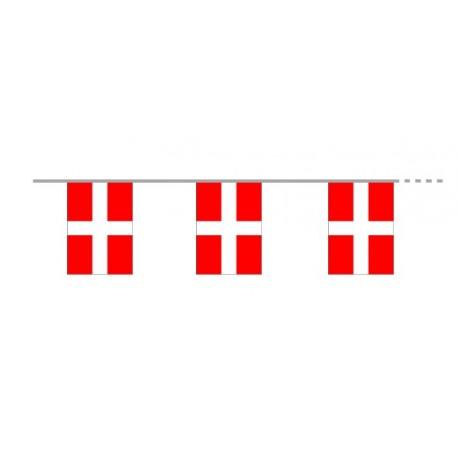 Guirlande Savoie - 12 fanions de 16 x 22 cm - tissu - Long. 400cm