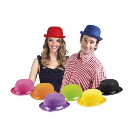 Lot de 8 chapeaux melon en assortiment de couleurs - feutre