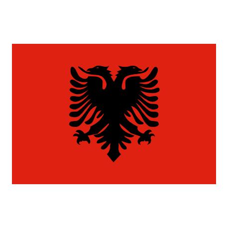 Drapeau Albanie - tissu - 60 x 90cm