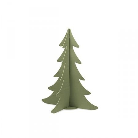 Sapin vert profil - Haut : 95cm - Carton