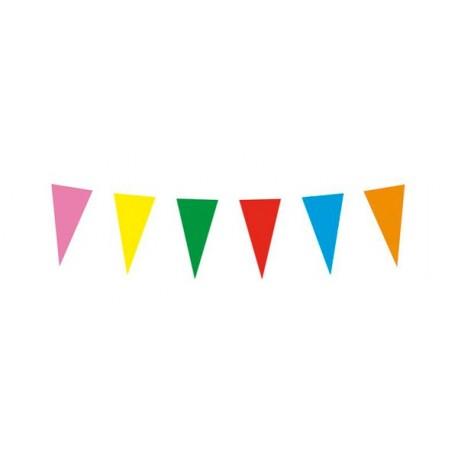 Guirlande Kermesse multicolore - 20  fanions 30 x 20 cm  plastique - Long. 10 ml
