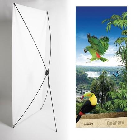 Kakemono Brésil toucan - 180 x 80 cm - Toile M1 avec structure  X- Banner