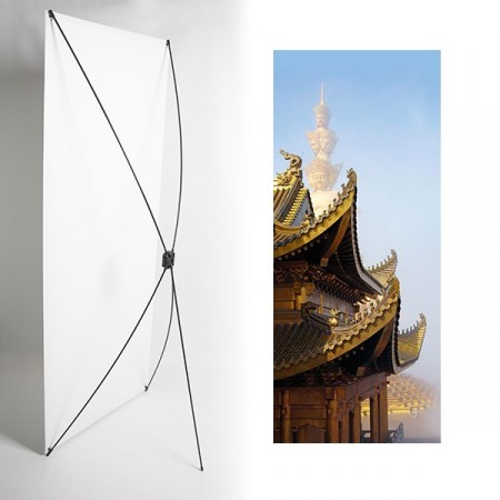 Kakemono chine monument  - 180 x 80 cm - Toile M1 avec structure  X- Banner