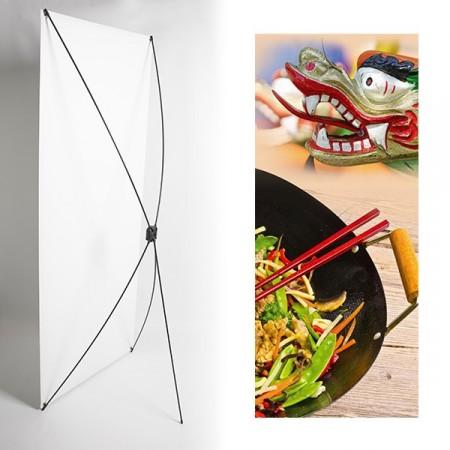Kakemono chine plat, dragon  - 180 x 80 cm - Toile M1 avec structure  X- Banner