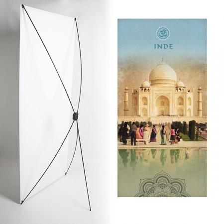 Kakemono Inde Taj Mahal- 180 x 80 cm sur Toile M1 avec structure  X- Banner