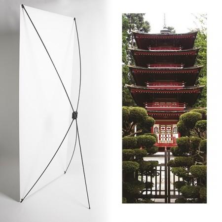 Kakemono monument japon - 180 x 80 cm - Toile M1 avec structure  X- Banner