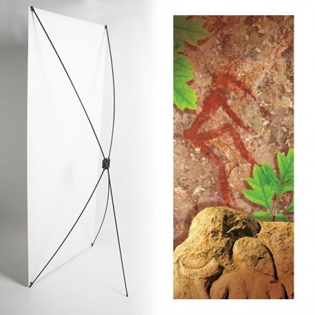 Kakemono Homme préhistoire - 180 x 80 cm - Toile M1 avec structure  X- Banner
