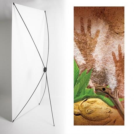 Kakemono Mains préhistoires - 180 x 80 cm - Toile M1 avec structure  X- Banner