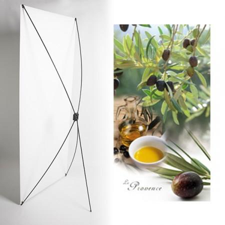 Kakemono provence olives- 180 x 80 cm - Toile M1 avec structure  X- Banner