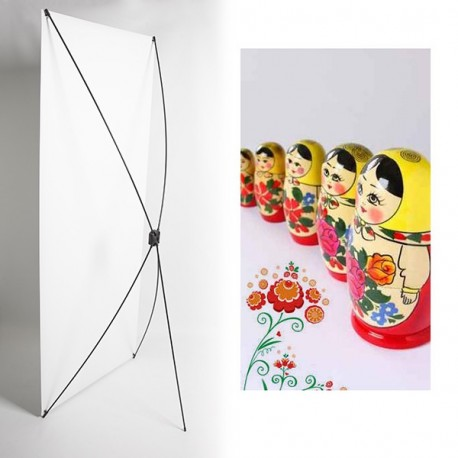 Kakemono maistroiachka série - 180 x 80 cm - Toile M1 avec structure  X- Banner