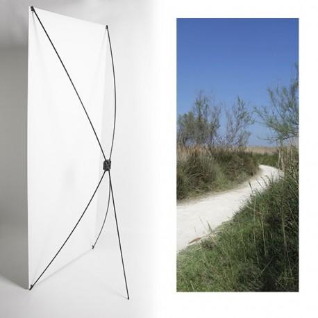 Kakemono chemin - 180 x 80 cm - Toile M1 avec structure  X- Banner
