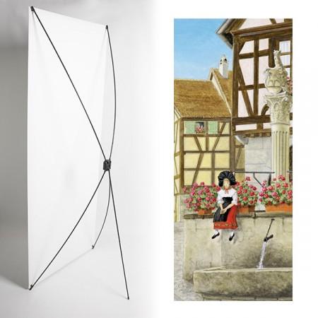 Kakemono Alsace fillette - 180 x 80 cm - Toile M1 avec structure  X- Banner