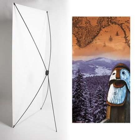 Kakemono statut foret vikings - 180 x 80 cm - Toile M1 avec structure  X- Banner