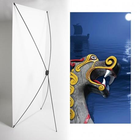 Kakemono dakkar - 180 x 80 cm - Toile M1 avec structure  X- Banner