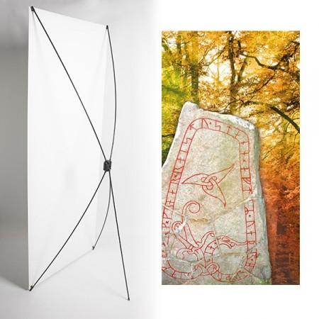 Kakemono stele vikings - 180 x 80 cm - Toile M1 avec structure  X- Banner