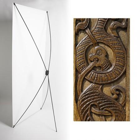 Kakemono vikings - 180 x 80 cm - Toile M1 avec structure  X- Banner
