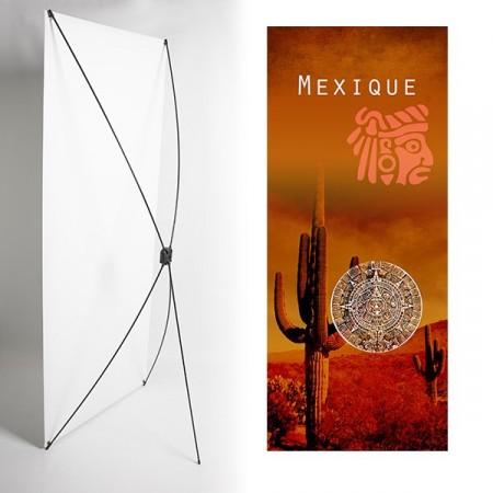 Kakemono Cactus - 180 x 80 cm - Toile M1 avec structure  X- Banner