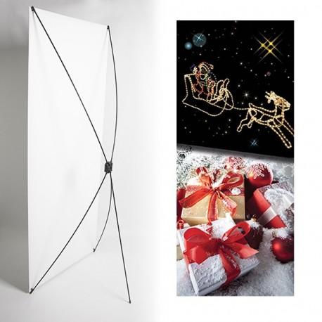 Kakemono cadeau - 180 x 80 cm - Toile M1 avec structure  X- Banner