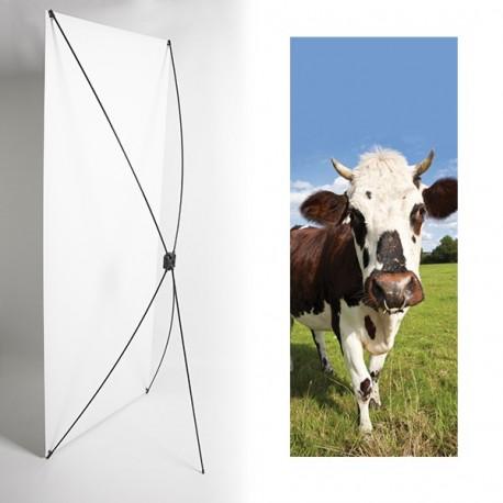 Kakemono normandie vache - 180 x 80 cm - Toile M1 avec structure  X- Banner