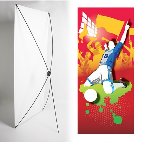 Kakémono FOOT 80 x 180 - Toile M1 / X Banner - Joueur / But