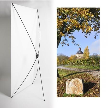 Kakemono Paysage Loire - 180 x 80 cm - Toile M1 avec structure  X- Banner