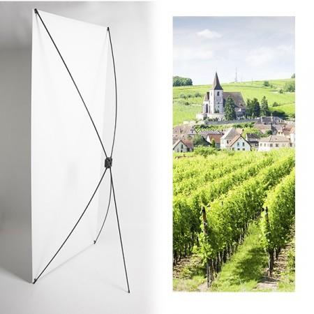 Kakemono Vignes pays de Loire - 180 x 80 cm - Toile M1 avec structure  X- Banner