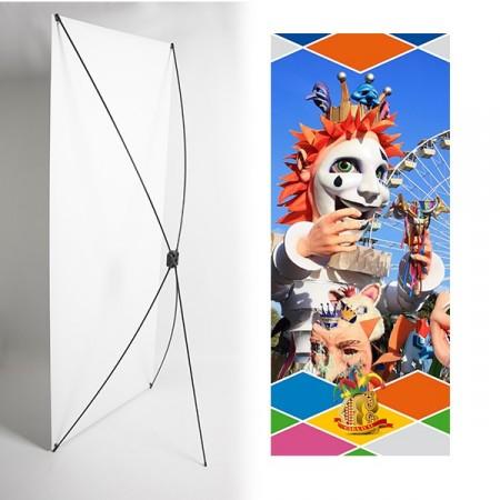 Kakemono Masque carnaval - 180 x 80 cm - Toile M1 avec structure  X- Banner