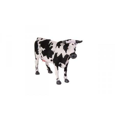 Vache - poils - H. 32cm L. 50cm