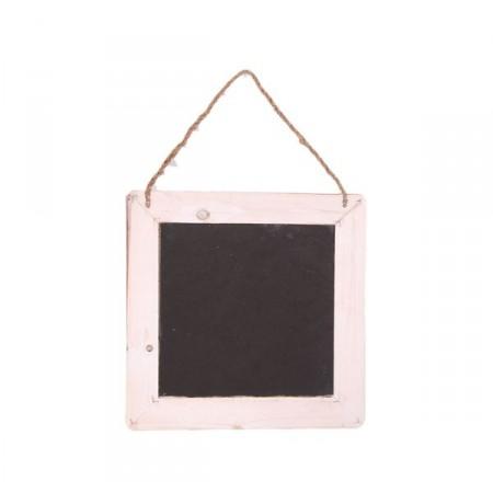 Petit tableau noir en bois, avec cordelette - 27 x 27cm