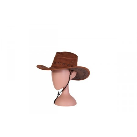 Chapeau Cow boy - feutrine marron - taille adulte