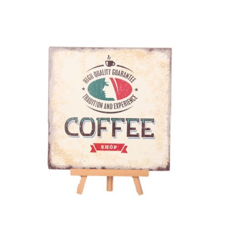 Plaque en bois COFFEE - 30 x 30cm