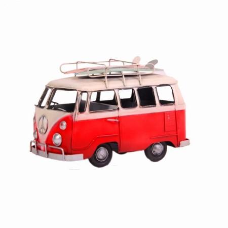 Combi Van WW avec surfs sur le toit - Métal - Long. 21cm