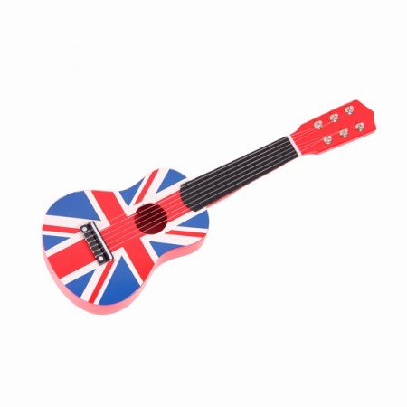 Petite guitare avec drapeau UK - Bois - H. 54cm