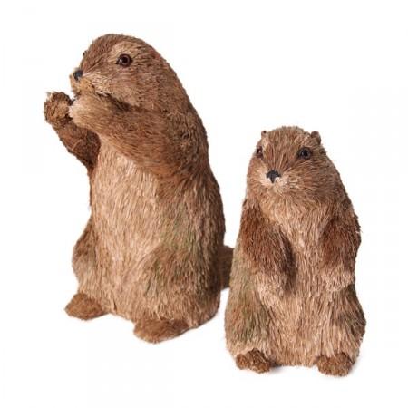 Marmote GM - 28 x 16 x 28,5 - fibres naturelles