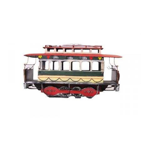 Tramway electrico en métal 41 x 13 x 22 cm